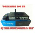 Dreambox 800 HD se/ Triple Sintonizador Sunray4 HD SE(Triple Tuner+Wifi+Sim 2.1)